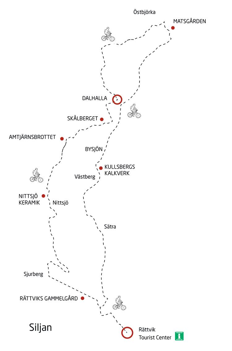 Karta Dalhalla runt