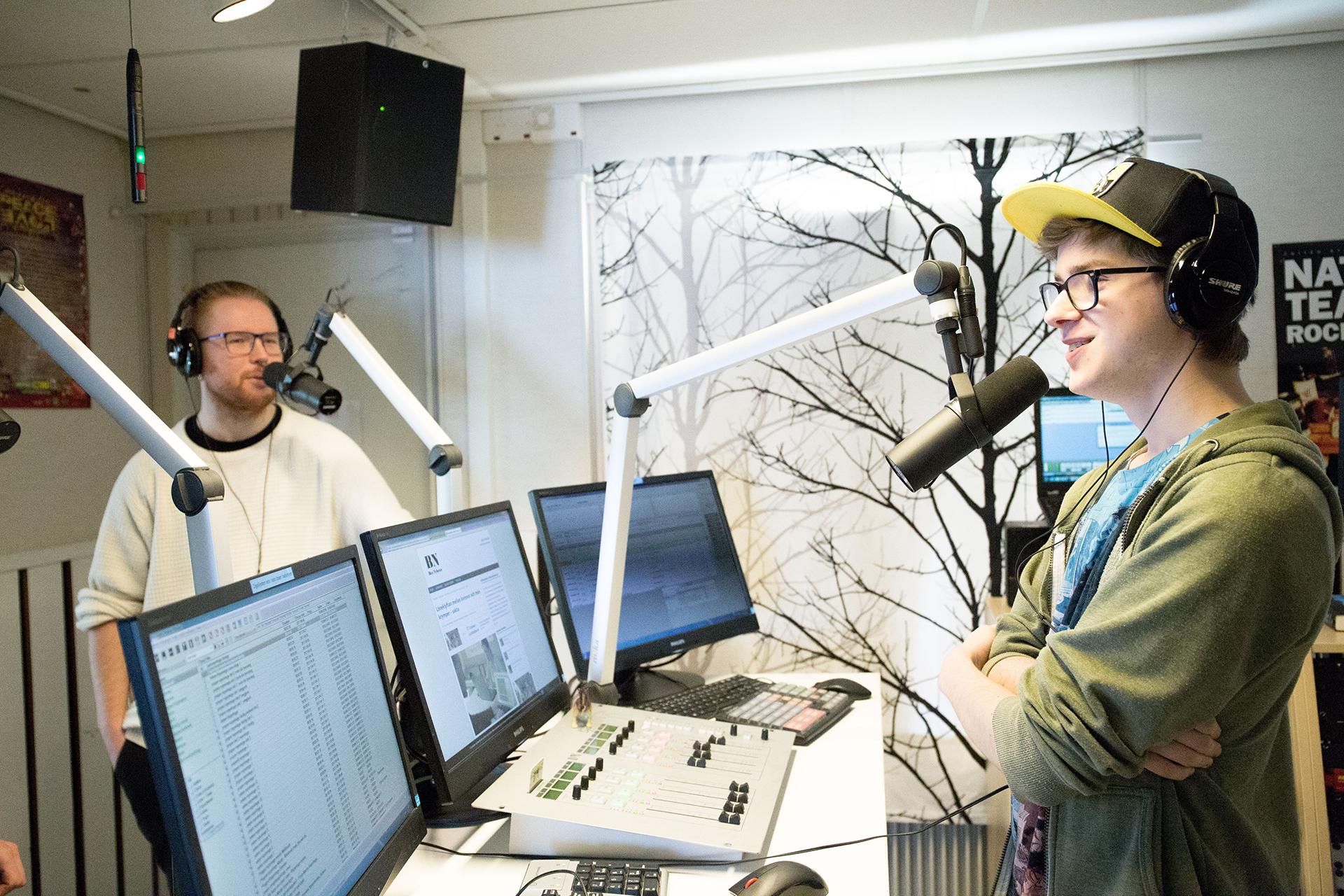 Bollnäs folkhögskolas radiostudio