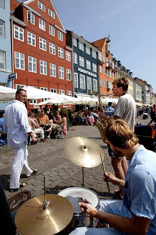 Köpenhamn. Livemusik i Nyhavn