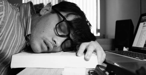 trött av att sova för mycket